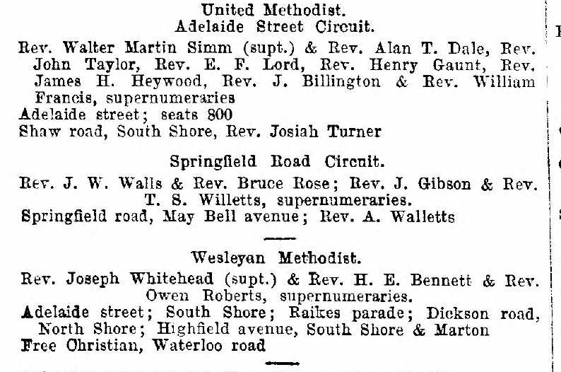 Excerpt from page 198 of Kellys Directory for Lancashire, 1924