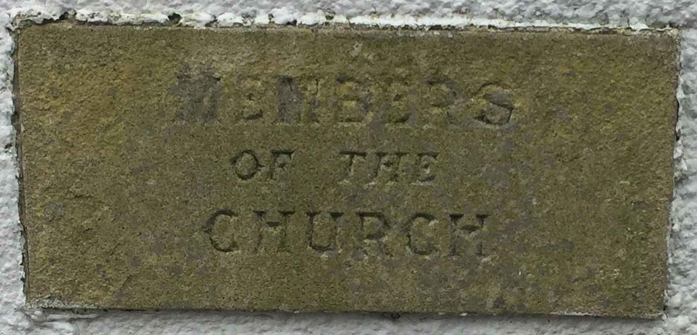 Memorial stone on Lindale Methodist Church Hall for Members of the Church
