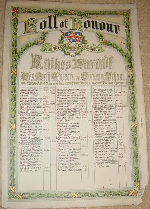 Paper roll of honour